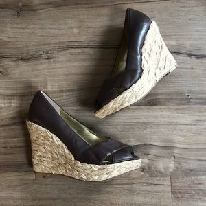 New! Jessica Simpson Wedges Size 7 Brown